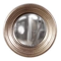 Medium Silas Silver Leaf Round Mirror