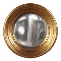 Medium Silas Country Gold Leaf Round Mirror