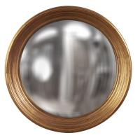 Large Silas Country Gold Leaf Round Mirror