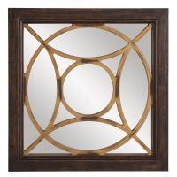 Ignatius Square Black Wood Mirror