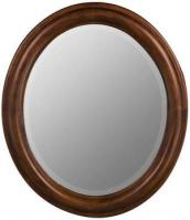 Addision Oval Decorative Mirror with Medium Cherry Finish