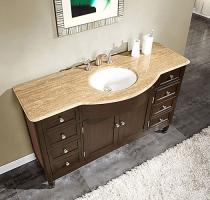 58 Inch Single Sink Bathroom Vanity with Top Choice