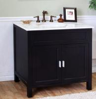 36 Inch Single Sink Bathroom Vanity in Ebony