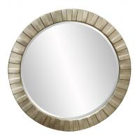 Howard Elliott Serenity Round Silver Leaf Mirror