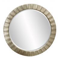 Serenity Round Silver Leaf Mirror