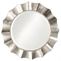 Howard Elliott Corona Round Silver Leaf Mirror
