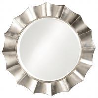 Corona Round Silver Leaf Mirror