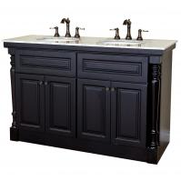 Bellaterra Home 55 Inch Double Bath Vanity in Mahogany