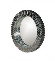 Ariel 3D Round Mirror with Scale Accents