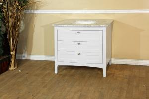 35 Inch Single Sink Bathroom Vanity with Dovetail Drawers