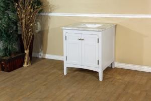 29 Inch Single Sink Bathroom Vanity in White