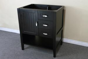 Delightful 29.2 Inch Single Sink Bathroom Vanity With Choice Of No Top
