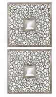 Uttermost Colusa Square Antiqued Silver Mirror