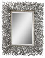 Corbis Rectangular Silver with Light Champagne Highlights Mirror