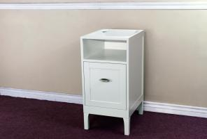 White Extra Drawer Side Cabinet