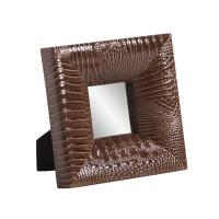 Outback Faux Leather Square Mirror