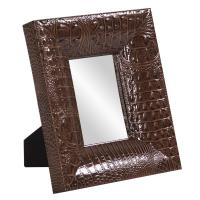 Outback Faux Leather Rectangular Mirror