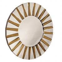 Colleen Clear and Amber Round Mirror