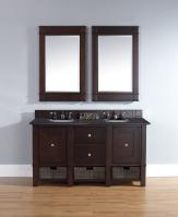 60 Inch Double Sink Bathroom Vanity with Multiple Top Choices