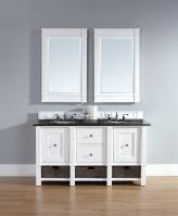 60 Inch Double Sink Bathroom Vanity in Cottage White