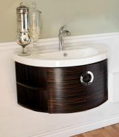 34 Inch Single Bathroom Vanity with a Ebony and Zebra Finish