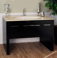 55.3 Inch Single Sink Bathroom Vanity with a Dark Walnut Finish