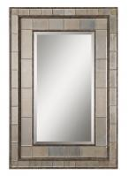 Uttermost Almont Rectangular Rust Bronze with Silver Champagne Mirror