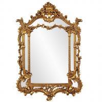 Arlington Gold Baroque Arched Mirror