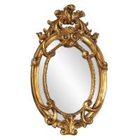 Cartwell Antique Gold Oval Mirror