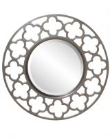 Gaelic Round Brushed Nickel Mirror