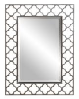 Gaelic Rectangular Brushed Nickel Mirror