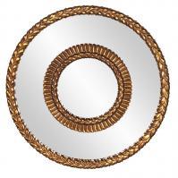 Hutchinson Museum Gold Round Mirror