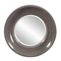Wilton Round Charcoal Gray Mirror