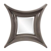 Wilton Charcoal Gray Square Mirror