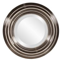 Val Round Bright Nickel Mirror