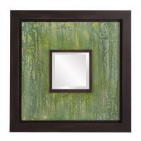 Monet Green Square Mirror