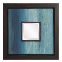 Monet Blue Square Mirror