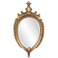 Robbins Antique Gold Oval Mirror