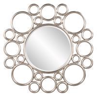 Cirque Silver Leaf Round Mirror