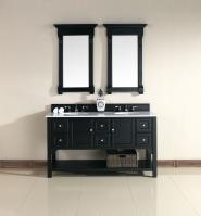 60 Inch Double Sink Bathroom Vanity in Antique Black