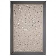 Bliss Crystal Smoke Gray Glass with an Array of Crystals Rectangular Mirror