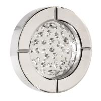 Nina Crystal Accent Round Mirror