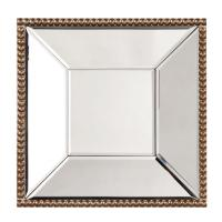Lydia Gold Beaded Square Mirror