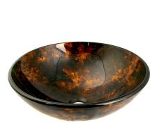 Multi Colored Round Glass Vessel Sink 154