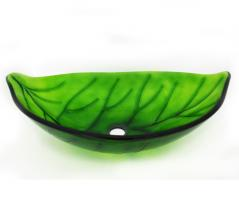 Leaf Shaped Glass Vessel Sink