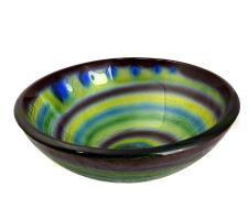 Multi Toned Swirl Pattern Glass Vessel Sink 98