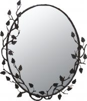 Quiescence Oval Forged Iron Mirror with Choice of Finish
