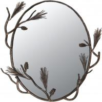 Round Forged Iron Mirror with Choice of Finish