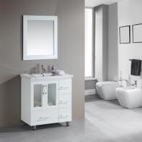 31.5 Inch Single Sink Bathroom Vanity in White