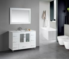 48 Inch Single Sink Bathroom Vanity in White